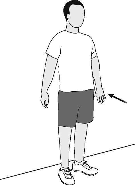 Иллюстрация удлинения плеча (изометрического)